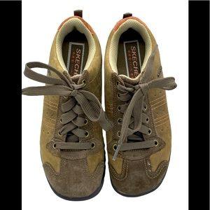 Brown Leather Skechers Sz 7 EUC